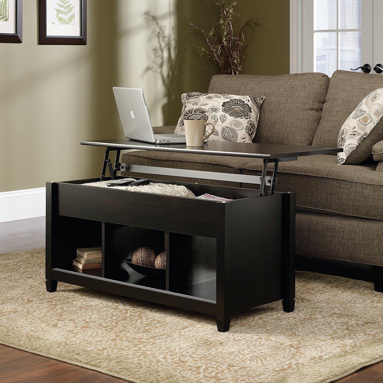ktaxon lift top coffee table modern furniture hidden compartment and lift tablet black walmart com