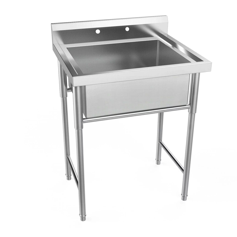 ubesgoo 30 wide commercial grade stainless steel utility sink restaurant sink laundry tub for washing room kitchen workshop basement garage