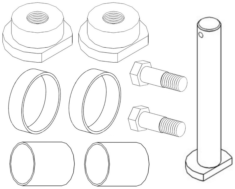 50291003 New Basic Front Axle Overhaul Kit Made for Case