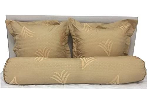 koni wheat embroidered bolster pillow sham 8 x40