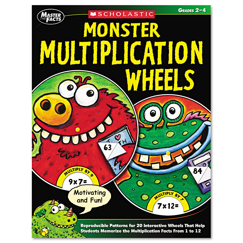 Scholastic Monster Multiplication Wheels Grades 2 4 64