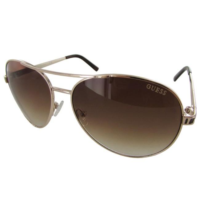 Guess Womens GUF241 Wire Rim Aviator Fashion Sunglasses