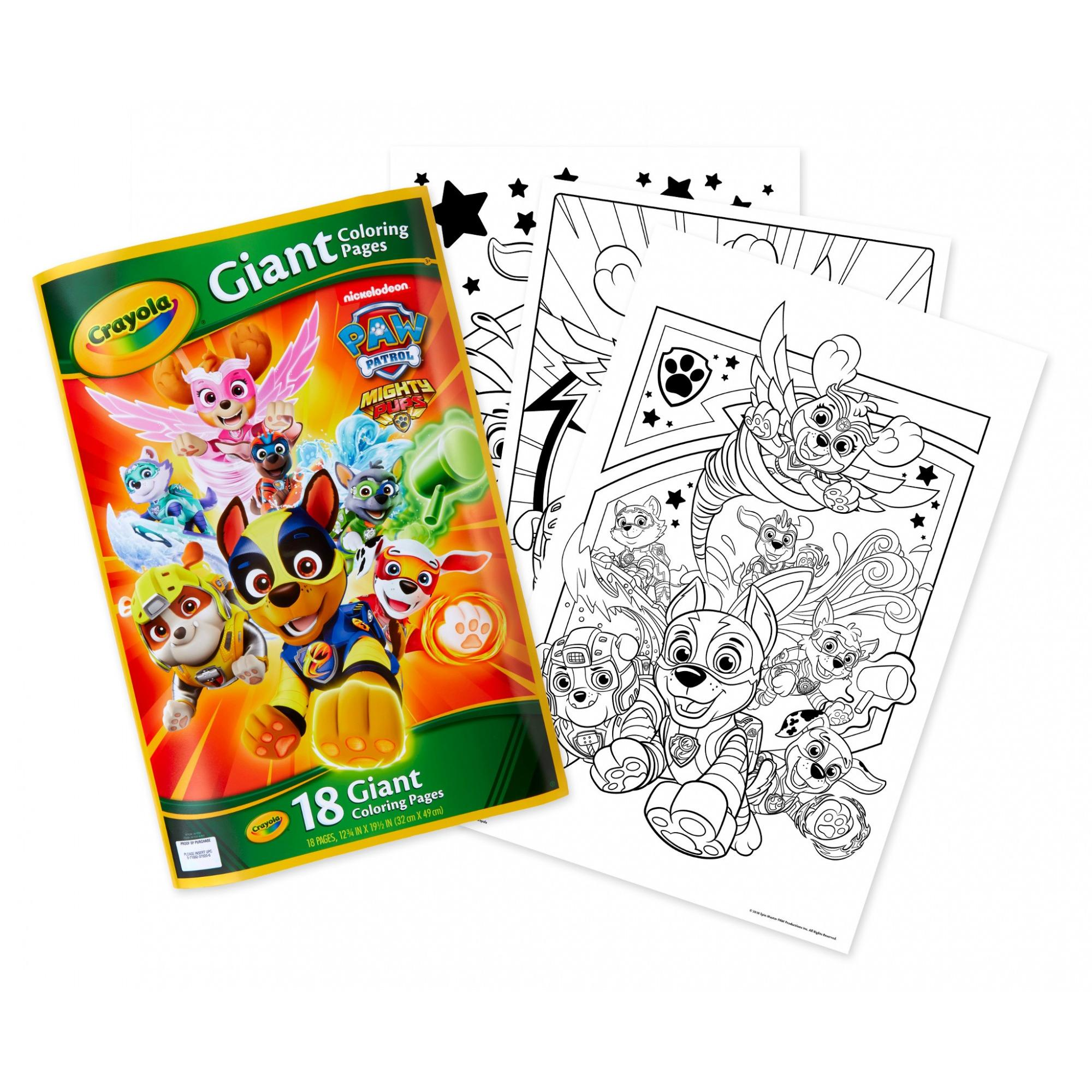 Crayola Paw Patrol Giant Coloring Pages Gift For Kids Ages 3 Child Walmart Com Walmart Com