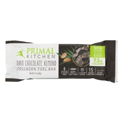 Primal Kitchen Bars Clear Canisters Collagen Fuel Bar Dark Chocolate Almond 1 7 Oz Walmart Com