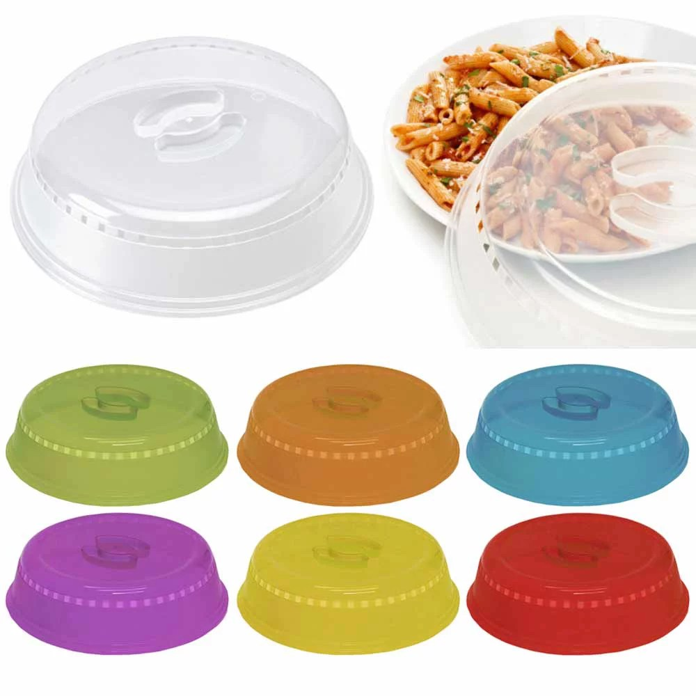2 microwave plate cover lid 10 plastic safe dish splatter topper vent holes new