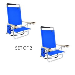 Beach Chair Cup Holder Affordable Egg Deluxe 5 Pos Lay Flat Aluminum W 250 Lb Capacity 2