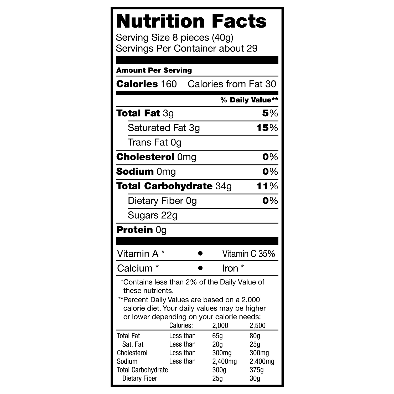 Starburst Nutrition Facts - NutritionWalls