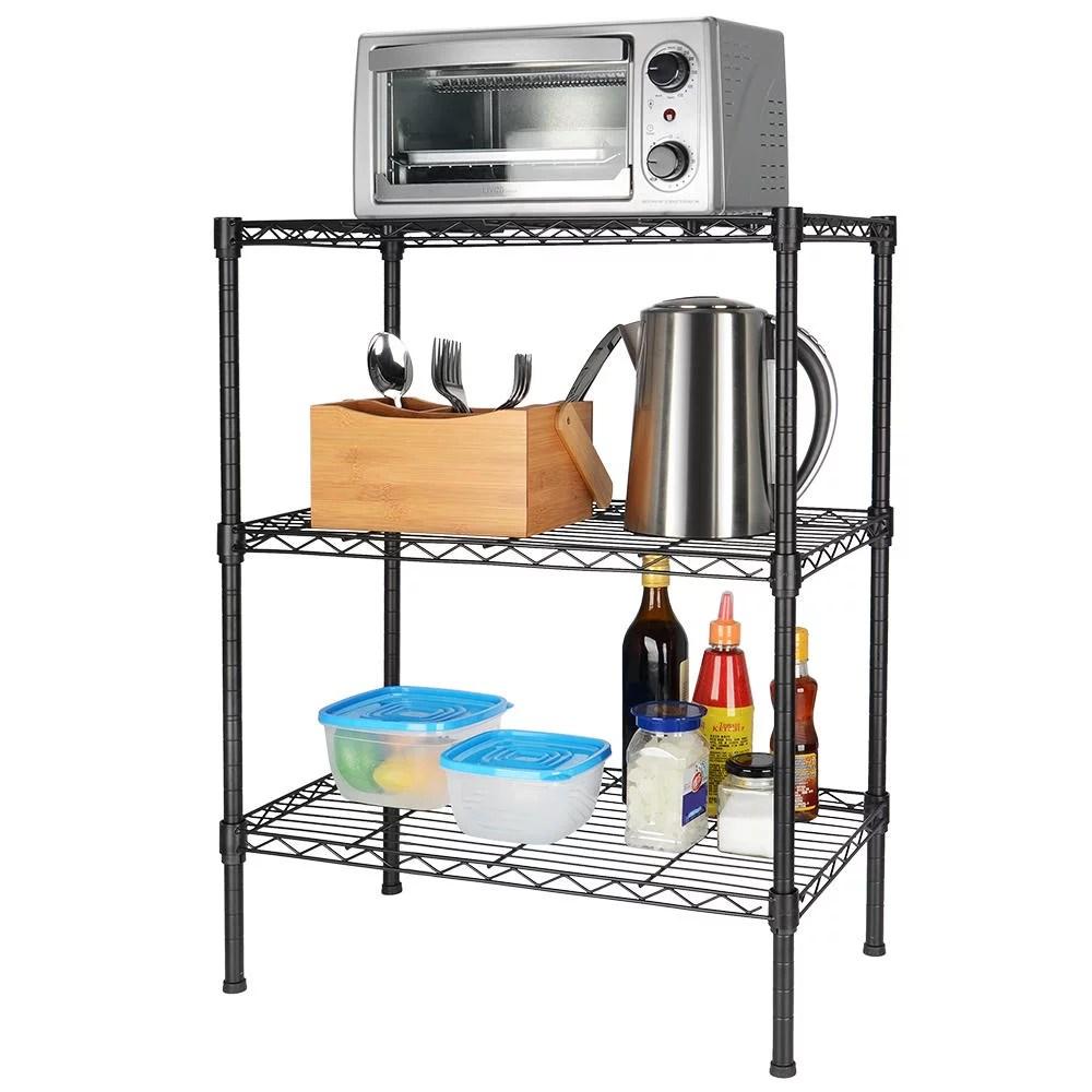 kitchen shelf flooring for 3 tier shelving unit storage organizer heavy duty adjustable sortwise