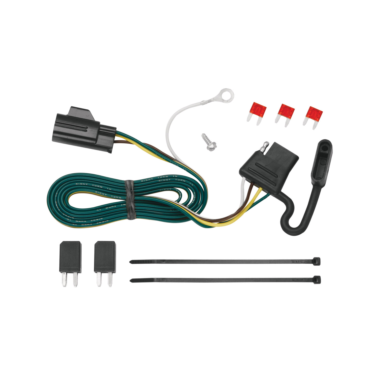tekonsha 118432 trailer wiring connector t one 4 way flat oem wiring harness connectors [ 1500 x 1500 Pixel ]