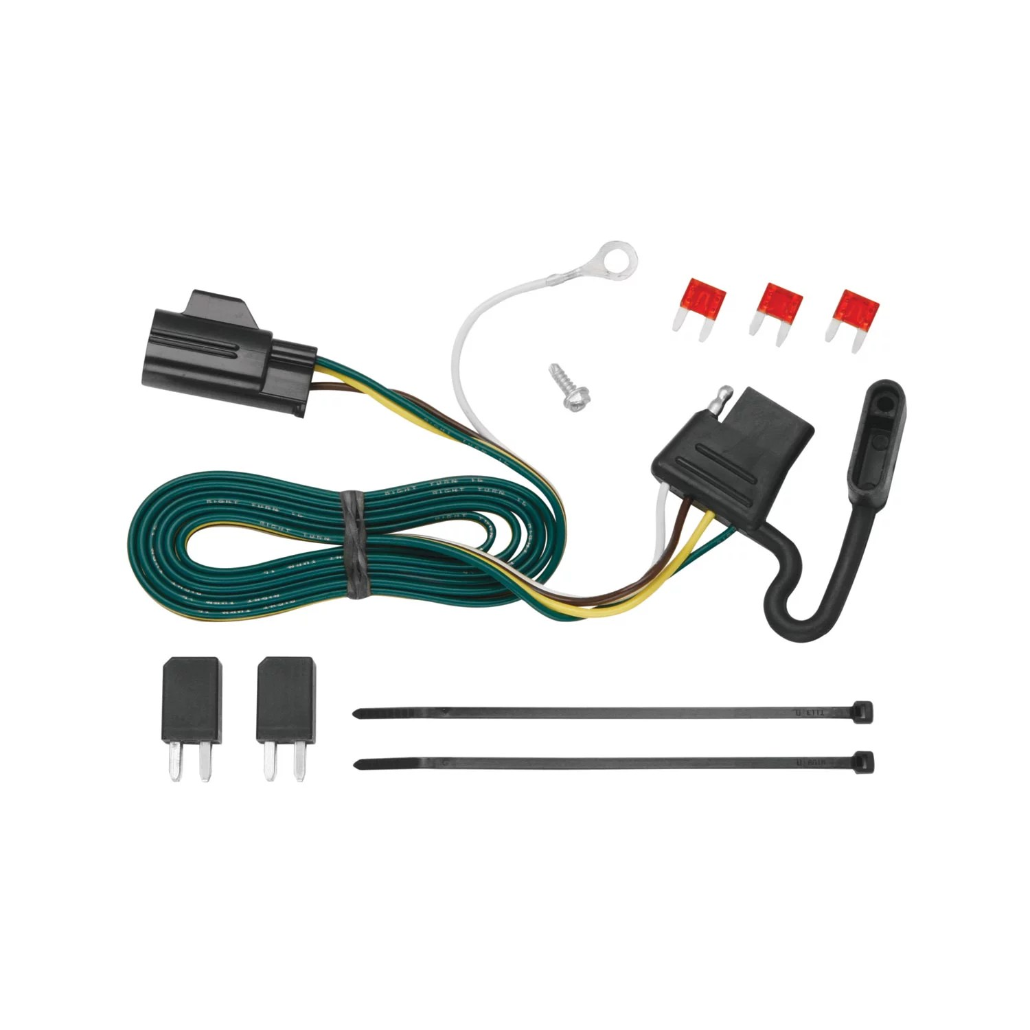 hight resolution of tekonsha 118432 trailer wiring connector t one 4 way flat replacement for oem wiring harness