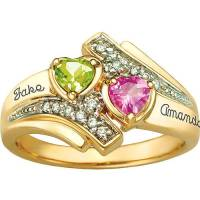 Keepsake Personalized Serenade Promise Ring with ...