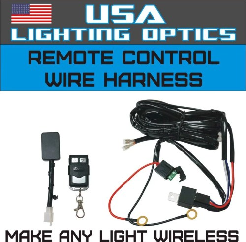 small resolution of wireless remote control universal wiring harness off road atv utv jeep trucks led light bar 40 amp relay on off switch wireless remote by usa lighting
