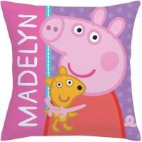 "Personalized Peppa Pig Big Hug 14"" x 14"" Throw Pillow ..."