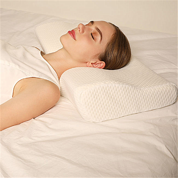 superhomuse memory foam pillow butterfly shaped relax the cervical spine neck shoulder pain relive slow rebound pillow