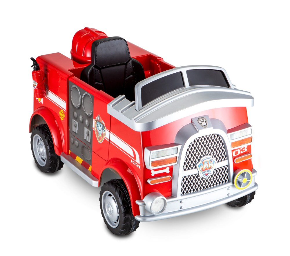 medium resolution of paw patrol fire truck 6 volt powered ride on toy by kid trax marshall rescue walmart com