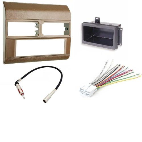 small resolution of 1988 1996 chevrolet amp gmc color beige complete single din dash kit pocket kit wire harness antenna adapter walmart com