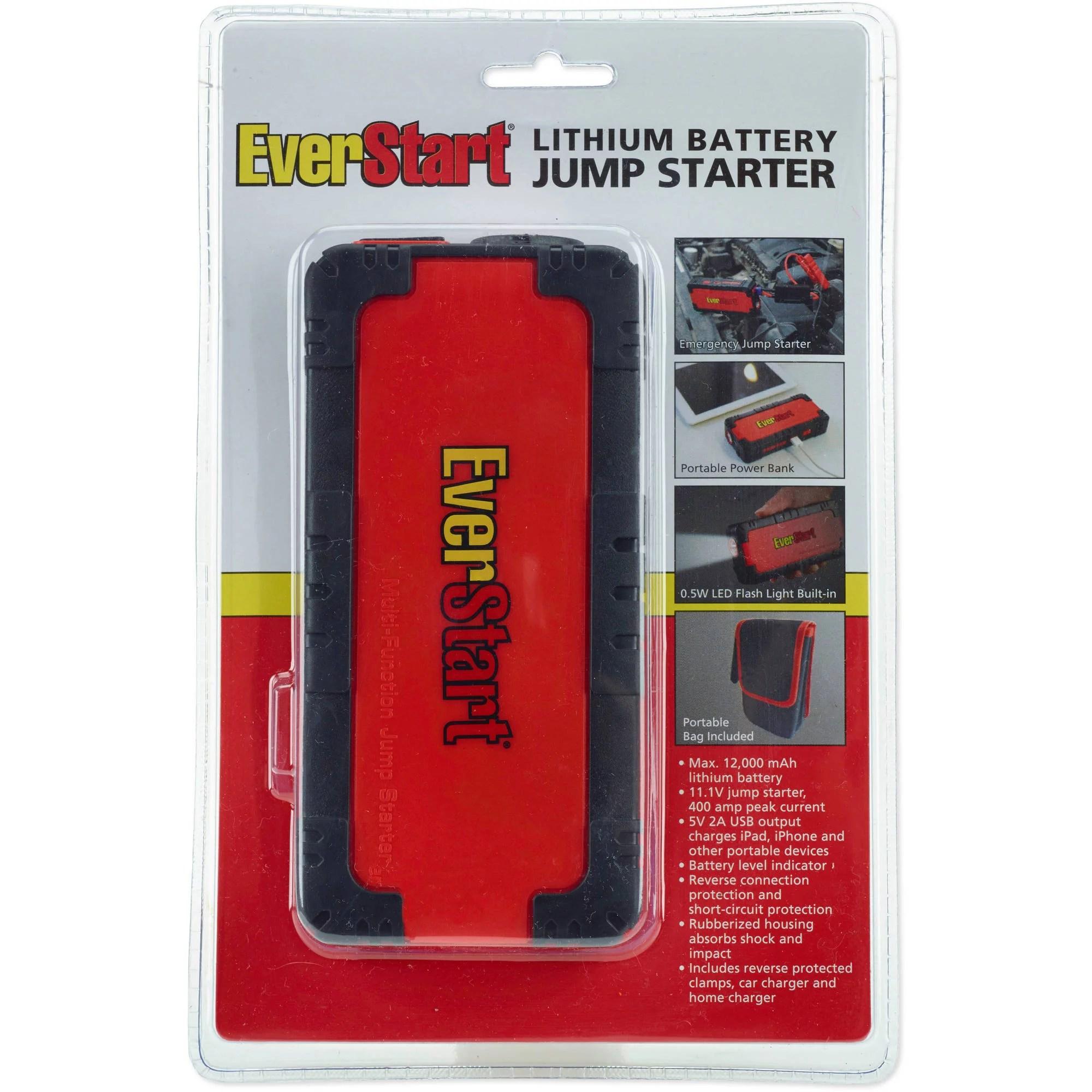 hight resolution of everstart multi function jump starter amp battery charger walmart com