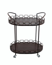 Privilege Oval Bar Cart