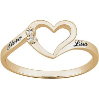 Personalized 18K Gold over Sterling Silver Diamond Accent ...