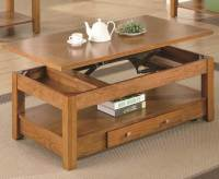 Coaster Lift Top Coffee Table, an Oak Veneer Finish ...