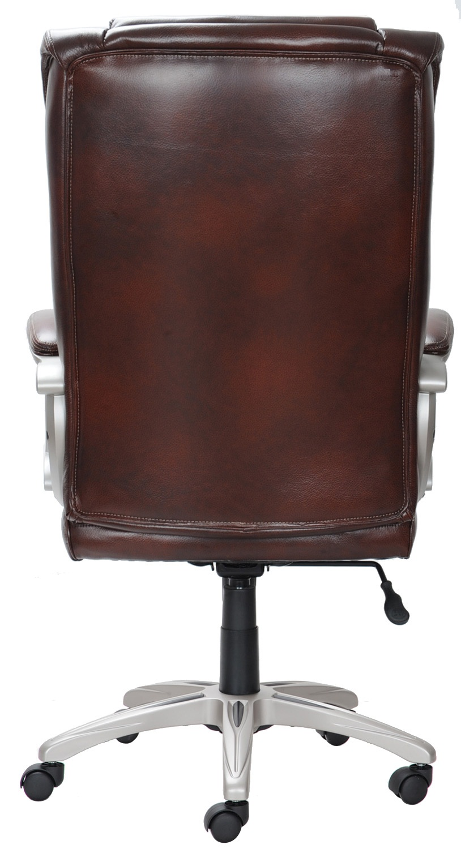 Broyhill Bonded Leather Executive Desk Adjustable Office