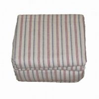 Cannon Flannel Sheet Set Tan Red Blue Stripe Queen Bed ...