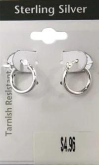 Sterling Silver Hoop Earrings - Walmart.com