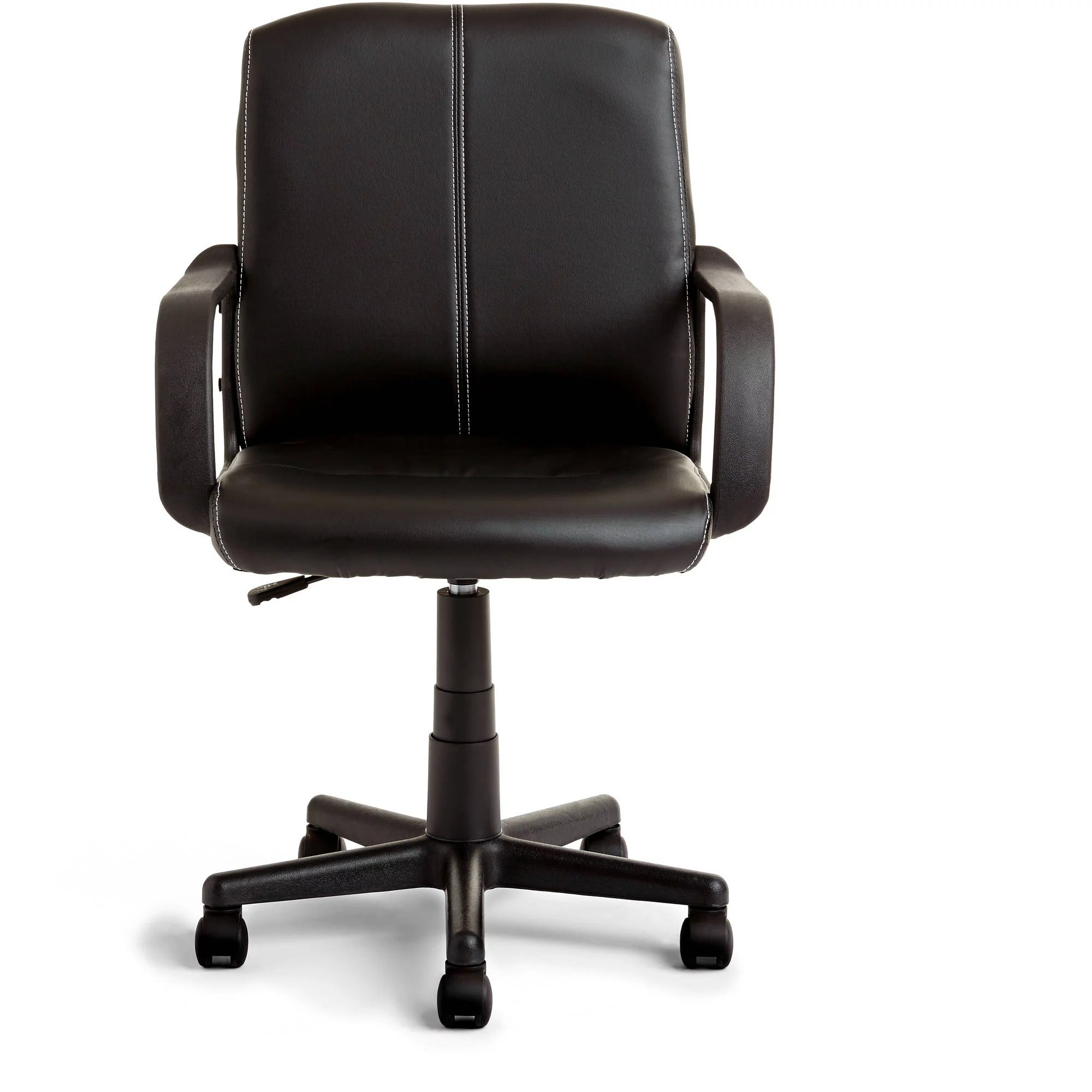 Mainstays Leather MidBack Rolling Swivel Office Chair  Walmartcom