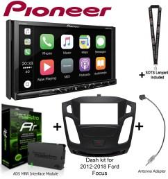 pioneer avh 2330nex 7 dvd receiver idatalink maestro kit foc1 dash kit [ 1952 x 1956 Pixel ]