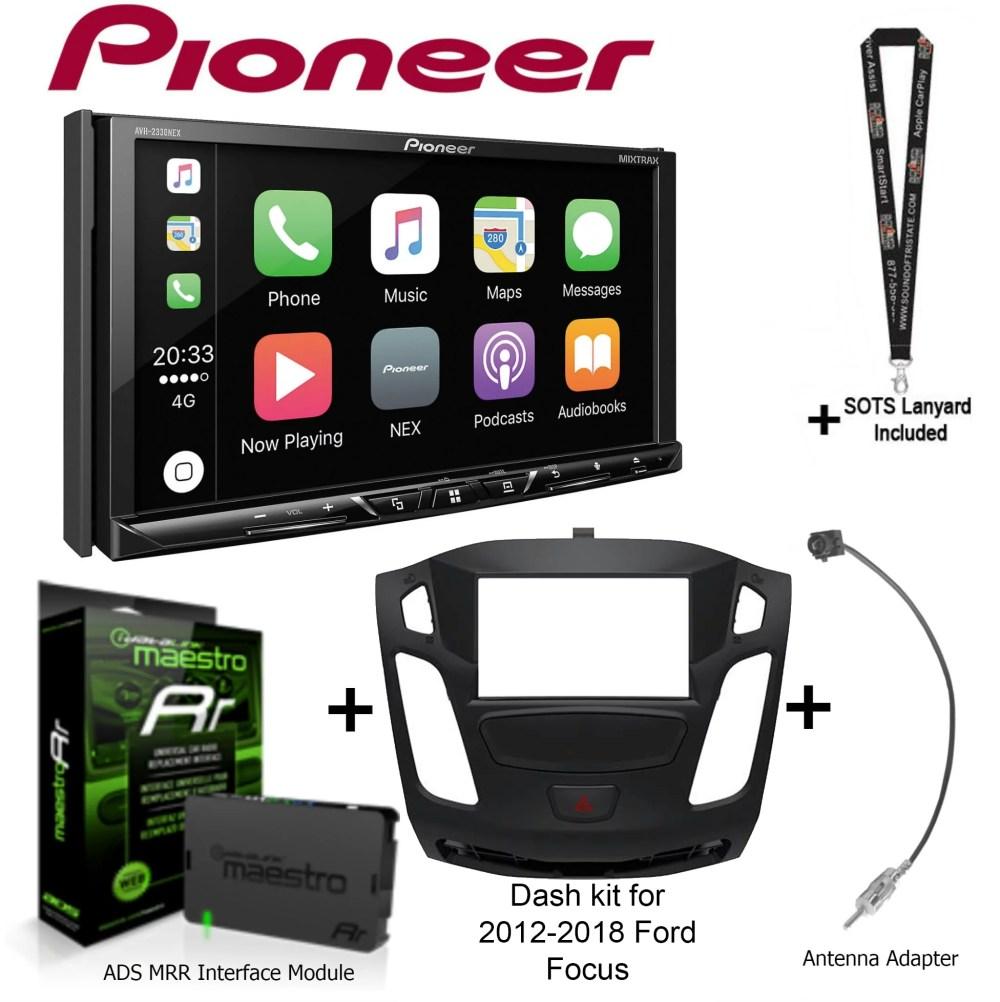 medium resolution of pioneer avh 2330nex 7 dvd receiver idatalink maestro kit foc1 dash kit