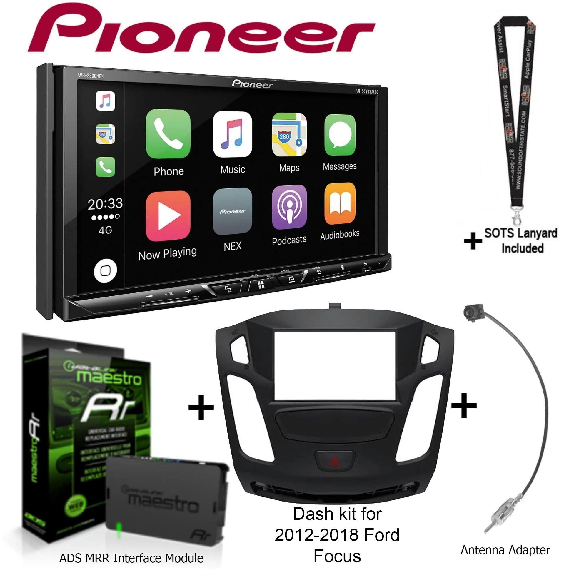 hight resolution of pioneer avh 2330nex 7 dvd receiver idatalink maestro kit foc1 dash kit