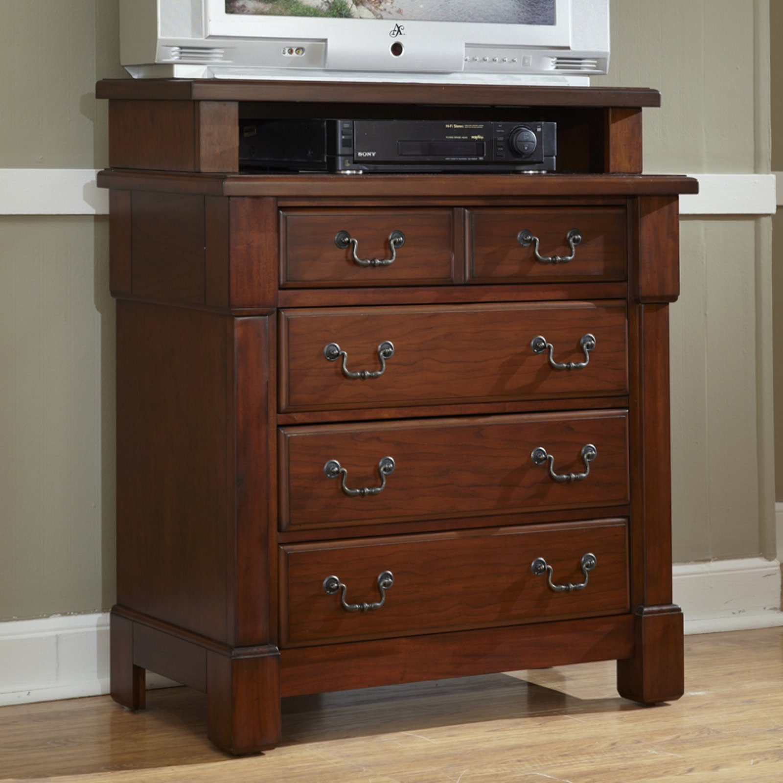 Home Styles The Aspen Collection Media Chest Rustic