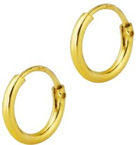 14k Gold Plated Sterling Silver Tiny 8mm Hoop Earrings for ...