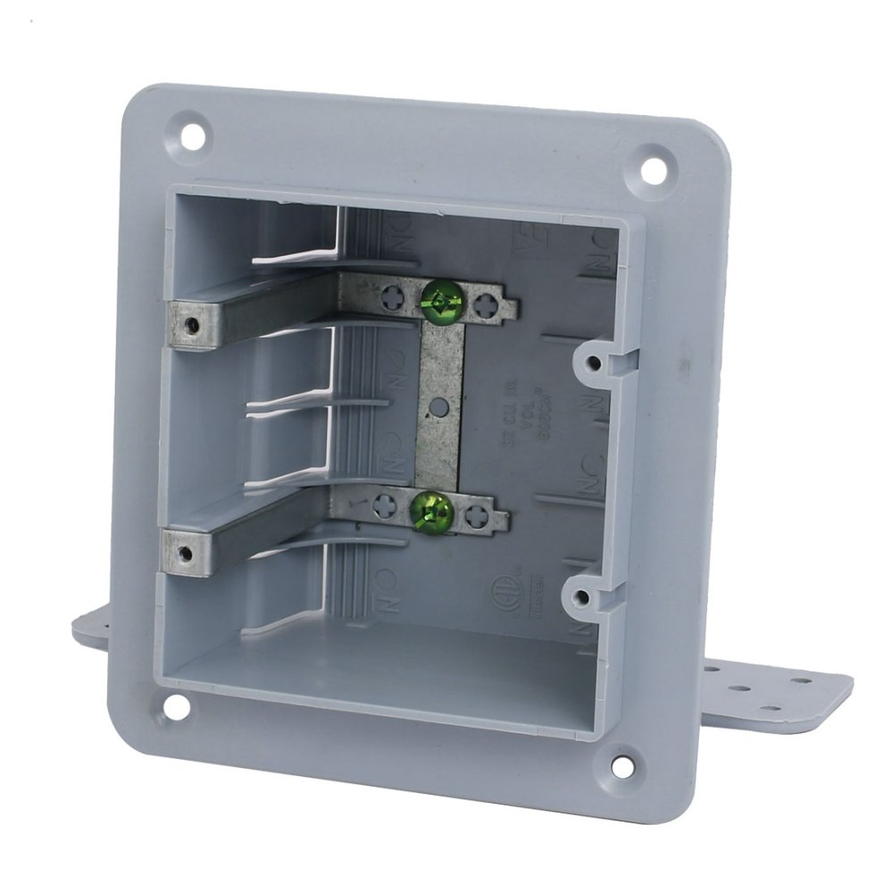 medium resolution of 140mmx165mmx70mm 2 gang electrical junction outlet box surface mount backbox walmart com