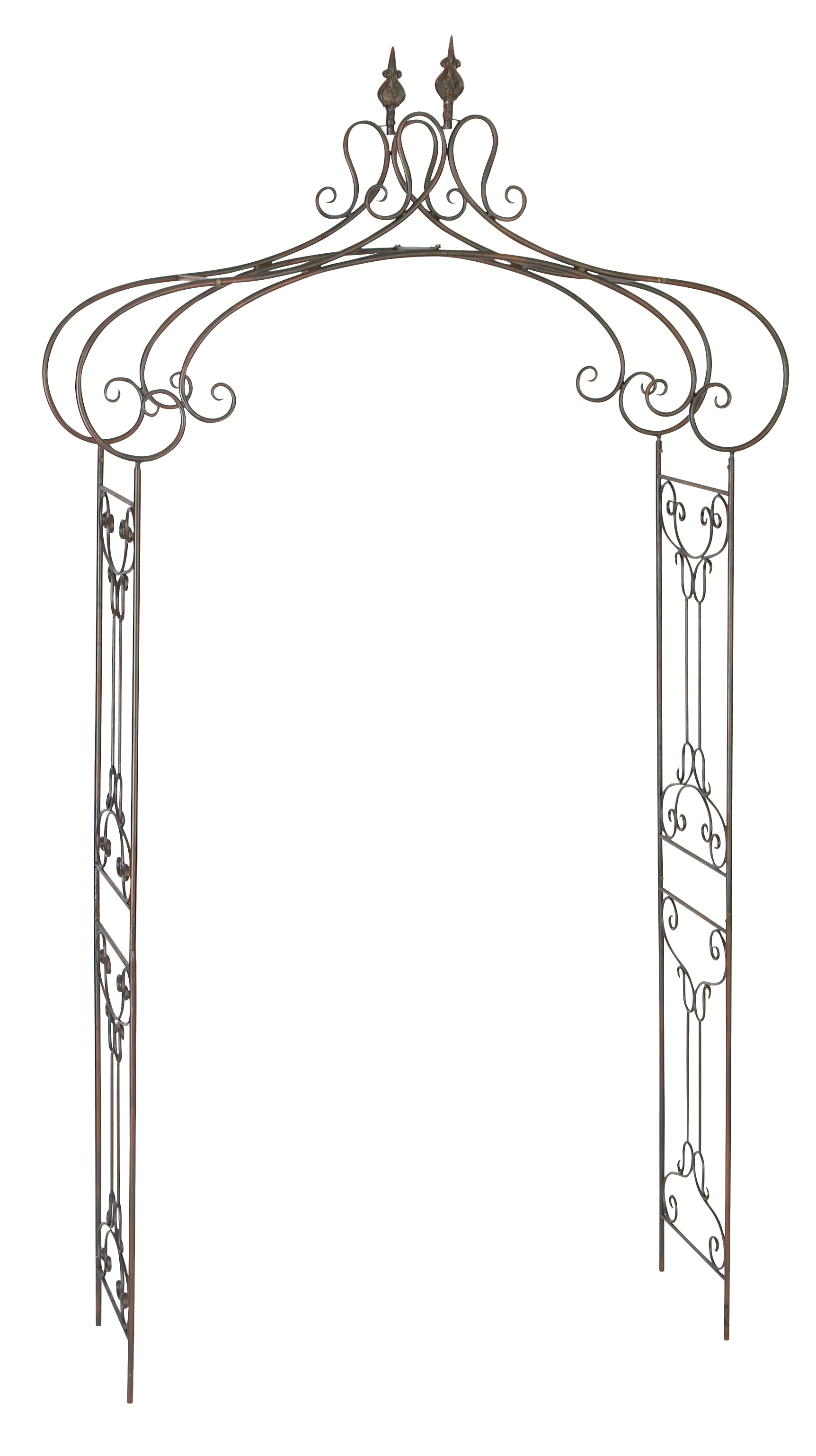 Decmode 95 Inch Traditional Wrought Iron Scrollwork Garden