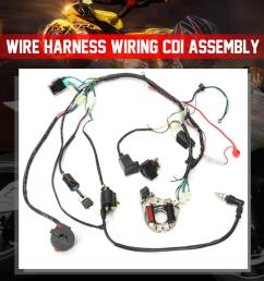 1 set wire harness wiring cdi assembly for 50 70 90 110cc 125cc atv quad coolster go kart walmart com [ 1073 x 1073 Pixel ]