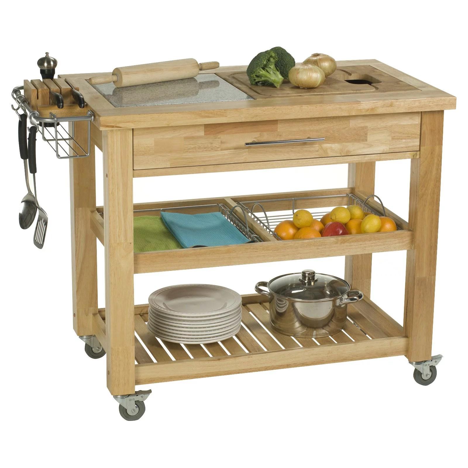 kitchen prep cart floor cleaner chris amp pro chef 24 x 40 food station natural walmart com