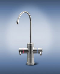 tomlinson contemporary hot cold contemporary series 600pbrhc hot cold non air gap drinking water faucet polished chrome