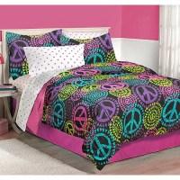 Latitude Neon Peace Bedding Comforter Set - Walmart.com