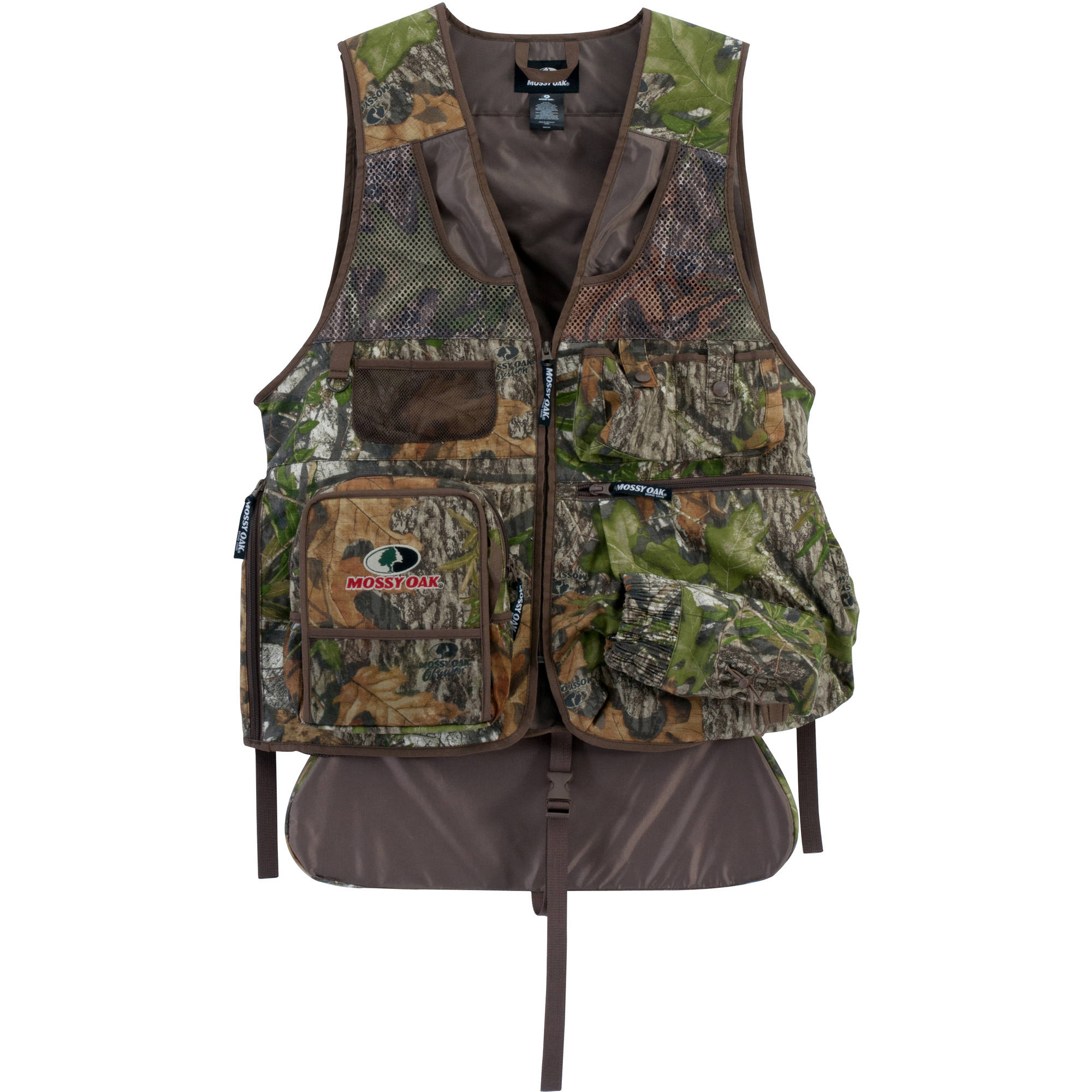hunting chairs for big men oxo tot sprout chair replacement cushion set taupe mossy oak 39s camo turkey vest with cushioned seat large