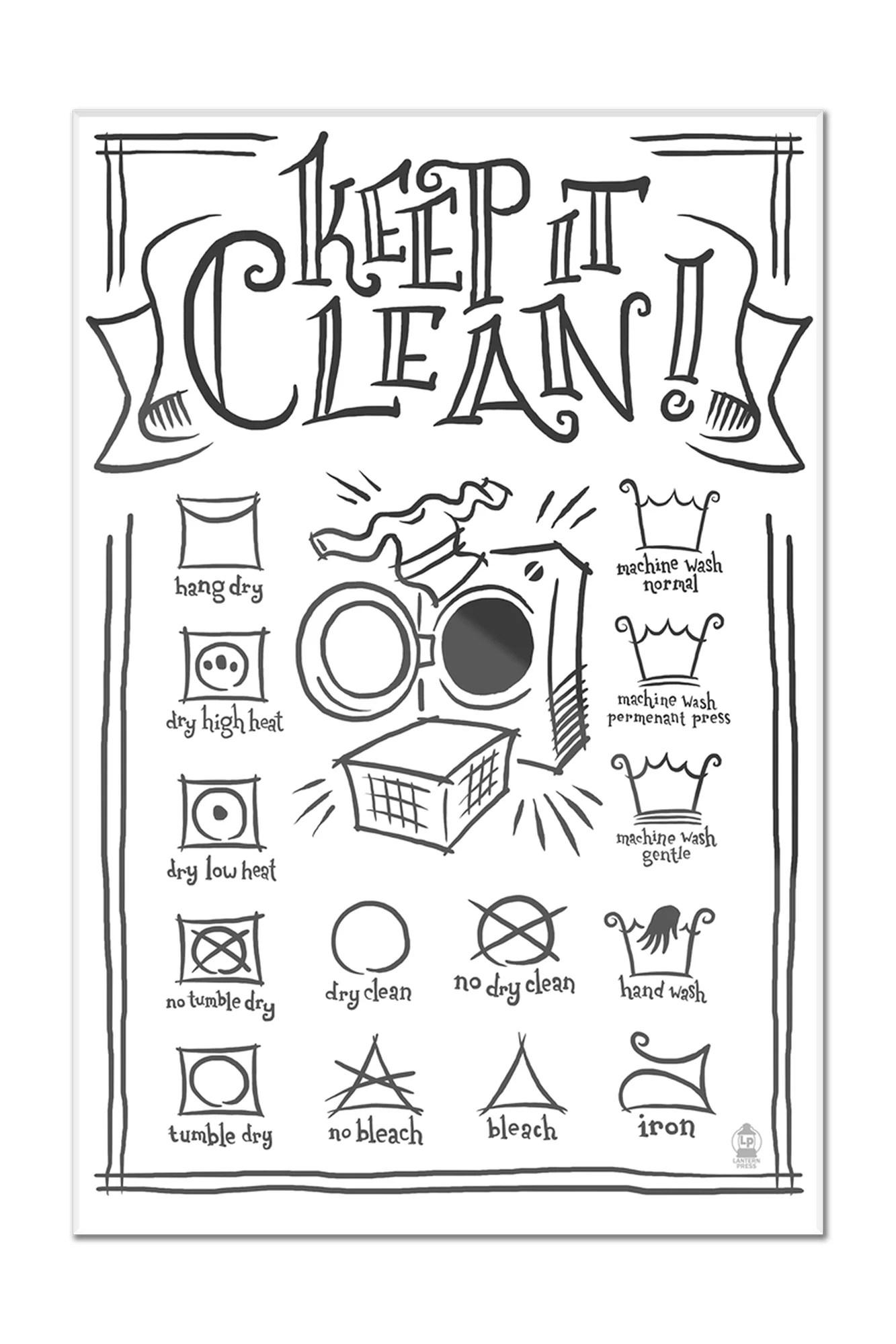 Laundry Symbols White