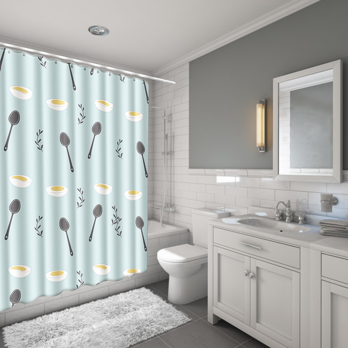 bathroom sets with shower curtain and