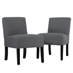 Armless Living Room Chairs Home Furniture Sets Upholstered Accent Chair Sofa Club Side Fabric Set Of 2 Walmart Com