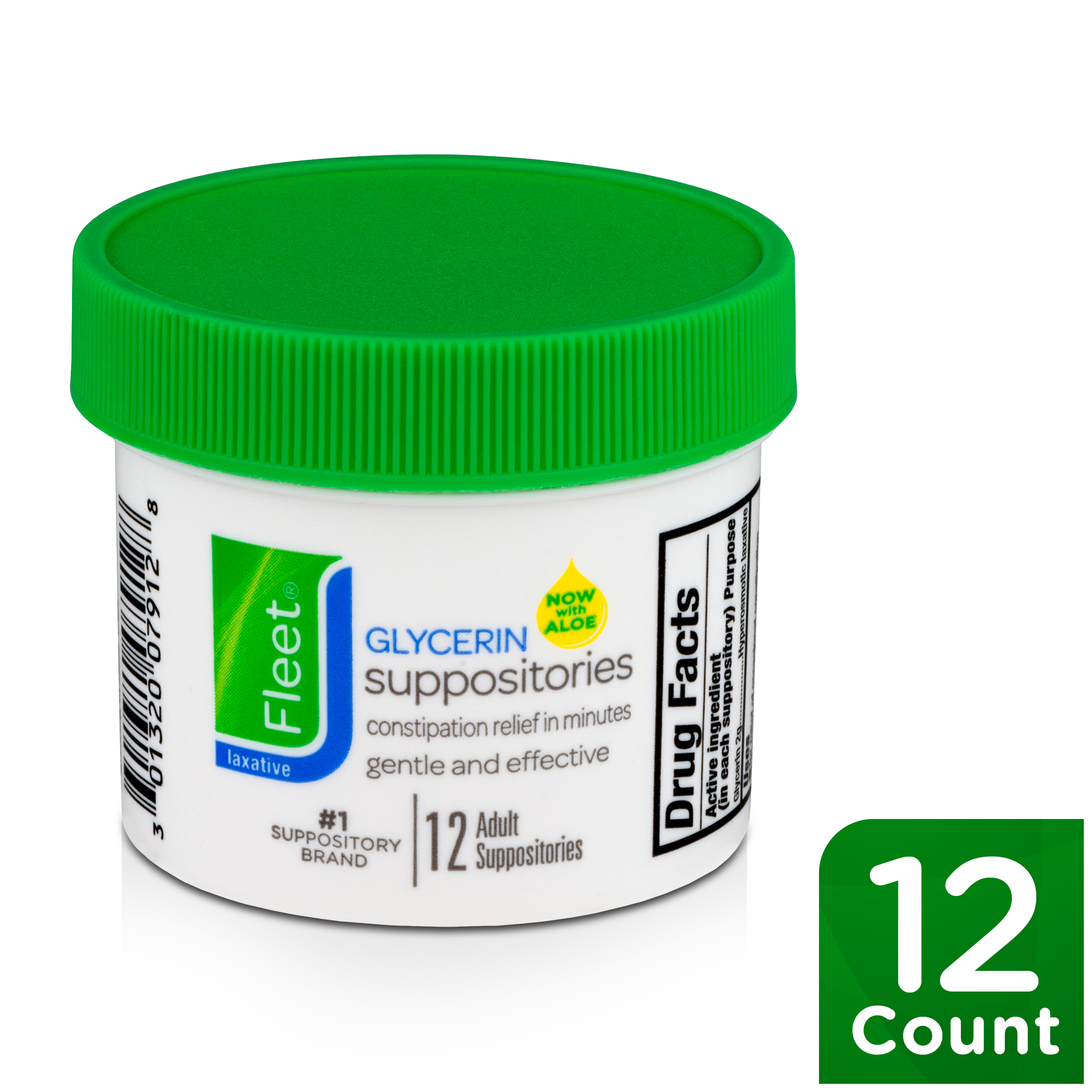 Fleet Laxative Glycerin Suppositories for Adult Constipation. 12 Count - Walmart.com - Walmart.com