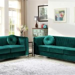 Us Pride Furniture Valak 2 Piece Velvet Living Room Set Green Walmart Com Walmart Com