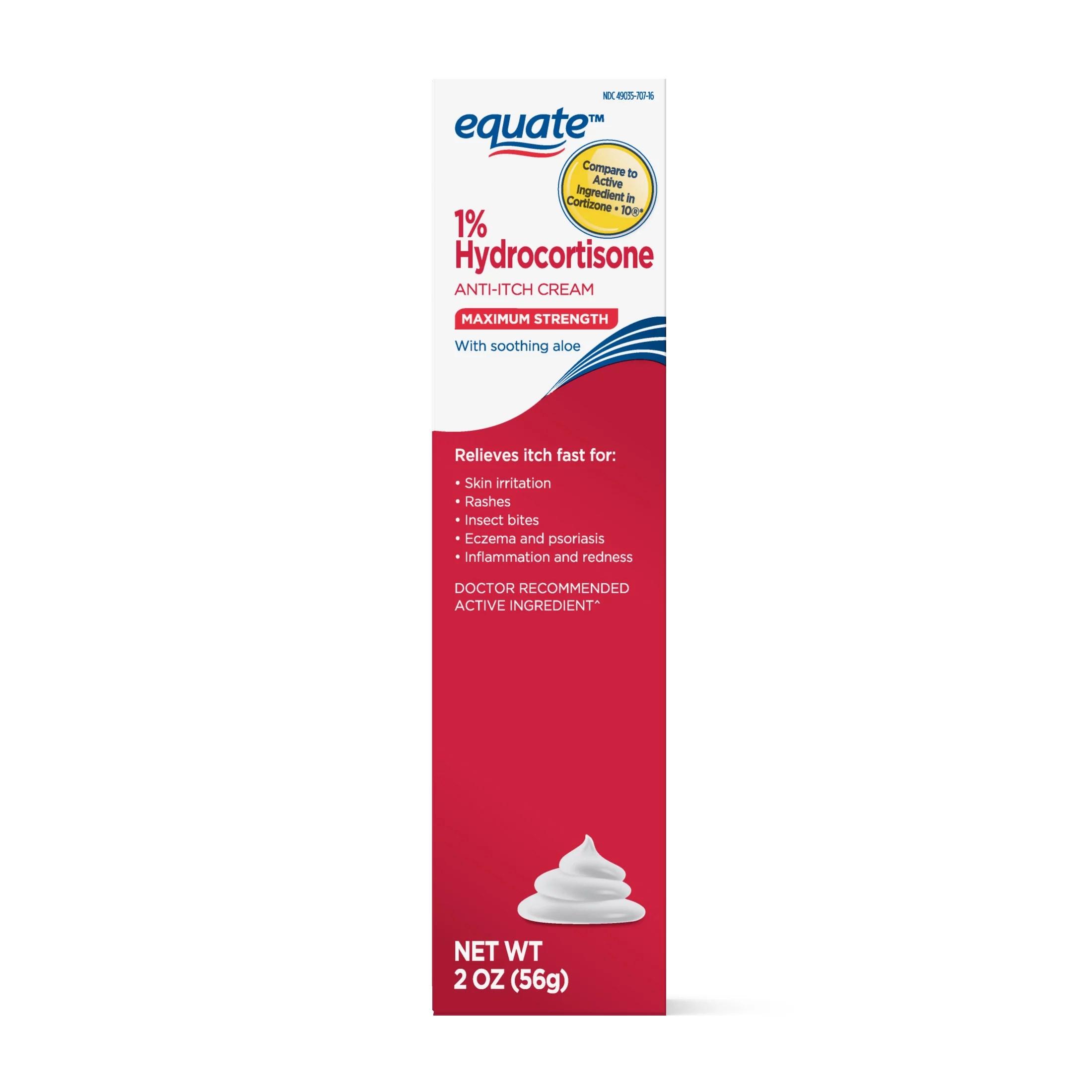 Equate Hydrocortisone 1% Anti-itch Cream with Aloe ...