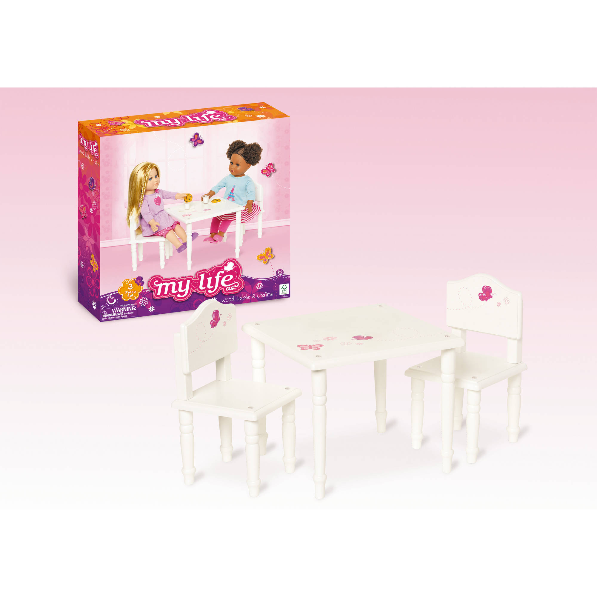 18 doll table and chairs linen my life as furniture walmart com