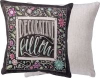"DECORATIVE PILLOW Colorful Throw Pillow 10"" x 10 ..."