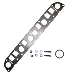 exhaust manifold flange gasket exhaust pipe bolts nuts and washers replacement for 91 99 jeep cherokee wrangler 93 98 grand cherokee 4 0l 52005431 53010238 [ 1000 x 1000 Pixel ]