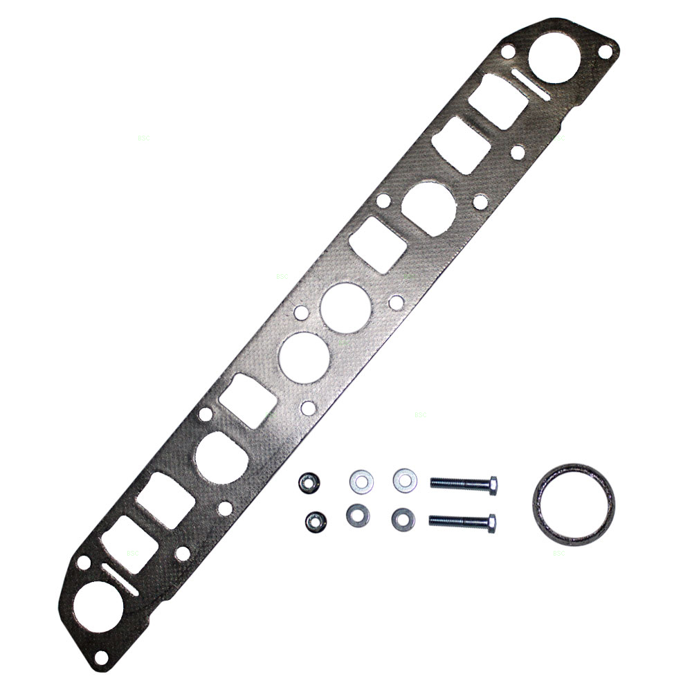 hight resolution of exhaust manifold flange gasket exhaust pipe bolts nuts and washers replacement for 91 99 jeep cherokee wrangler 93 98 grand cherokee 4 0l 52005431 53010238